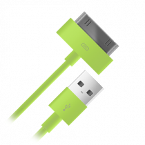 Кабель BB 004-001 USB-s30pin для Apple 1м зеленый