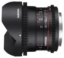 Samyang 12mm T3.1 ED AS NCS VDSLR Fish-eye Micro Four Thirds